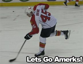 David Brine Playing For The Florida Panthers