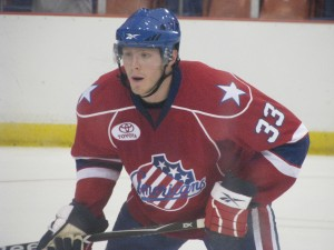 Victor Oreskovich during the Amerks vs Crunch game on 9/29/2009