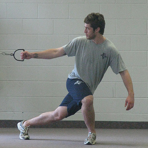 Tyler Plante working out at the Panthers 2009 Development Camp at the Teen Ranch