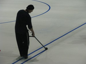 Painting the blue line