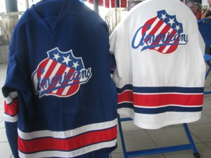 Hockey players wear sweaters, not jerseys