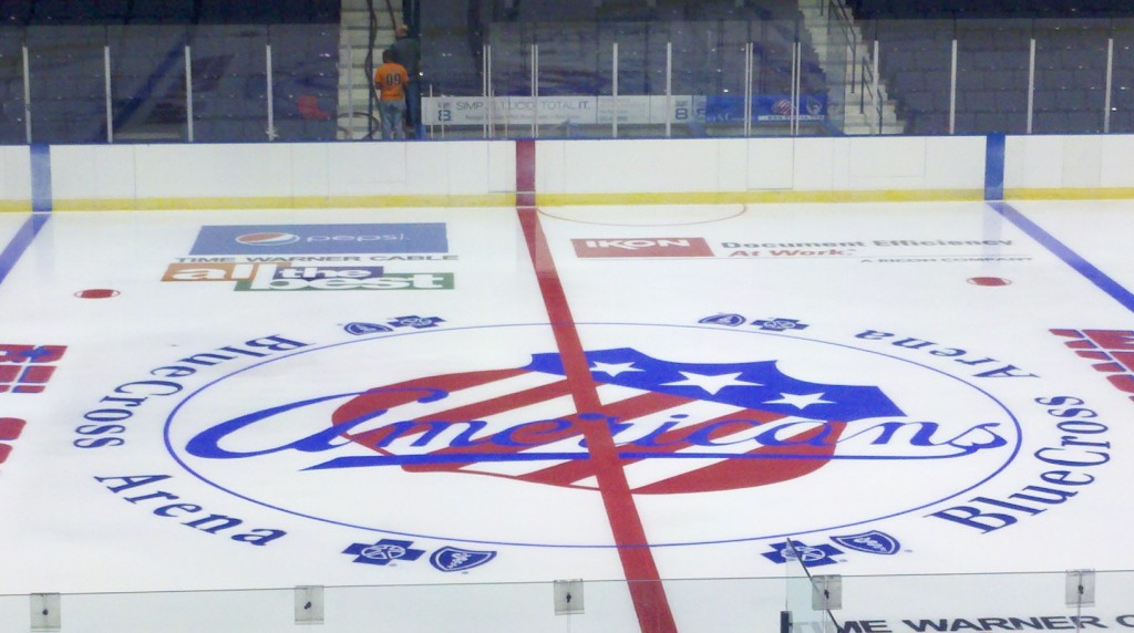 Finished Amerks Logo at Center Ice