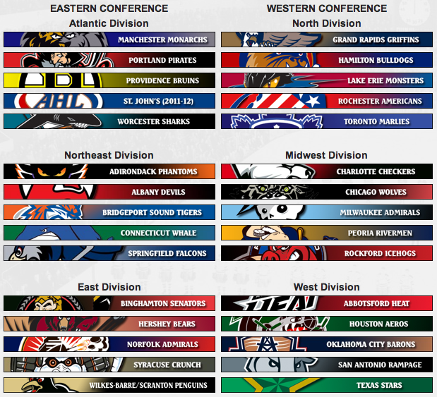 AHL Alignment and Playoff Format for 2011-2012 Season