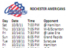 Rochester Americans 2011-2012 Schedule By Some Numbers