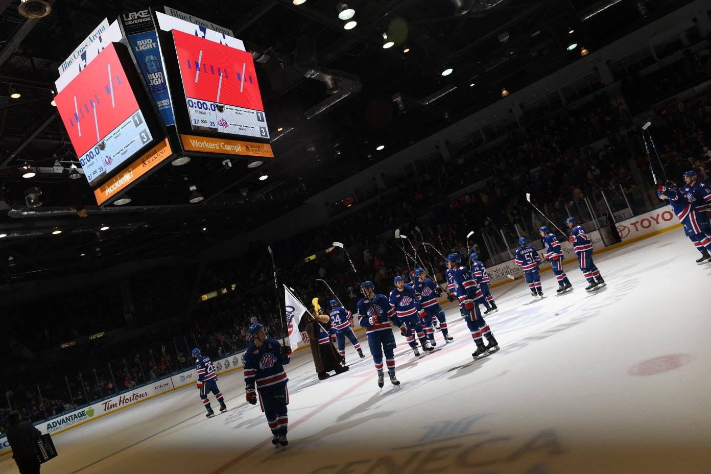Amerks Reach 50 points with Win over the Phantoms