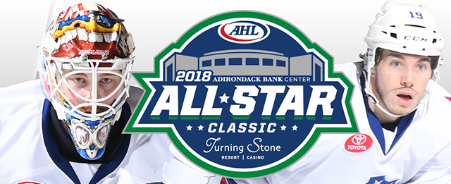 AHL All-Stars Linus Ullmark and CJ Smith