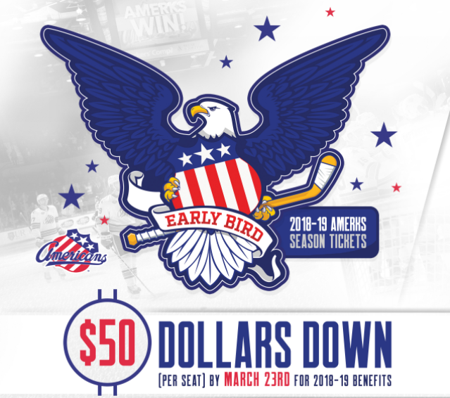 Amerks 2018-2019 Early Bird Season Ticket Pricing