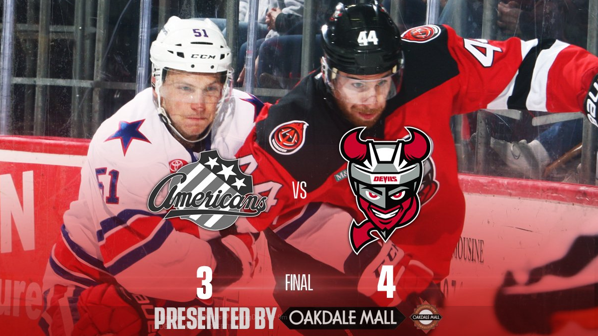 Overtime Loss to the Last Place Devils