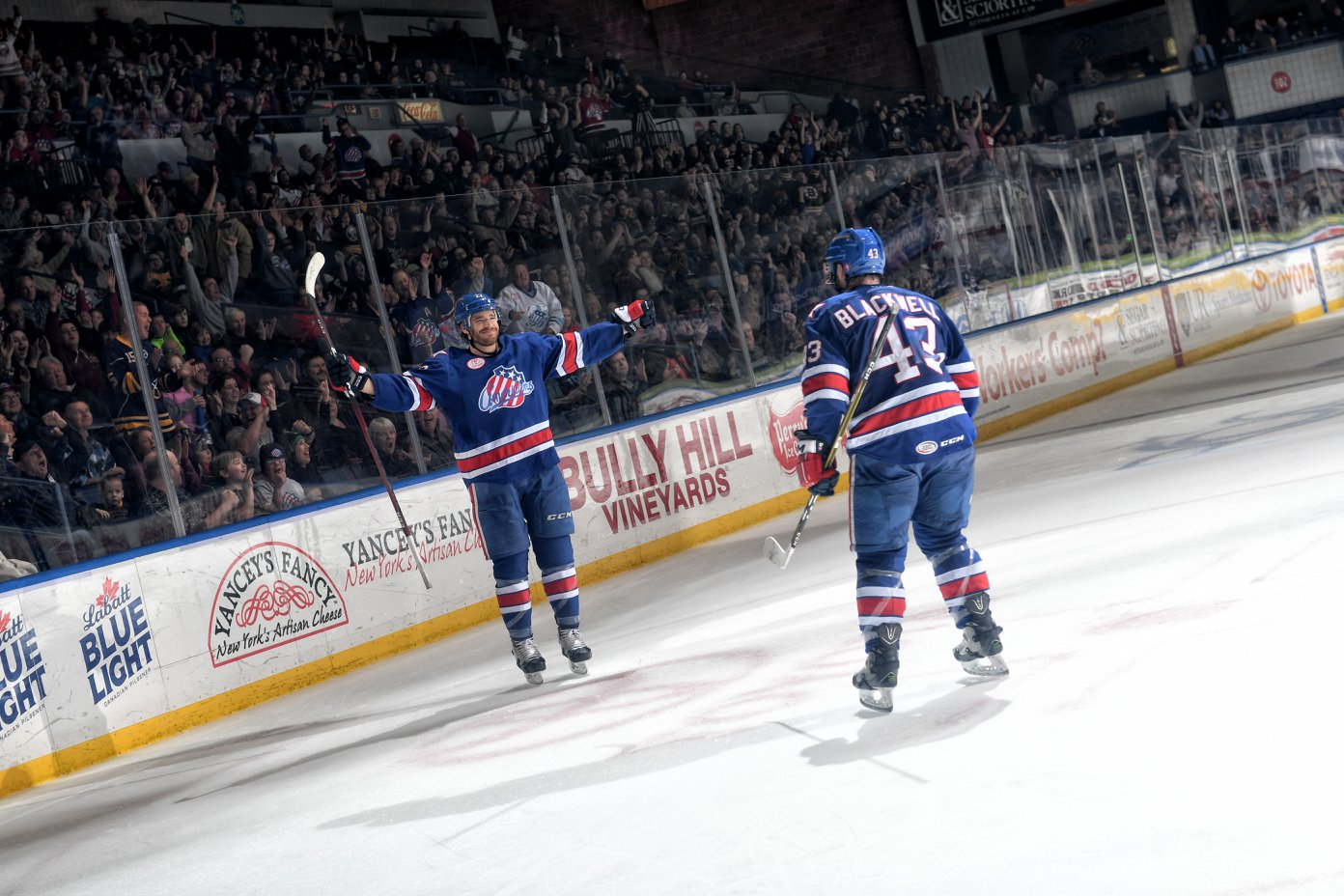 Colin Blackwell and Zach Redmond Lead Amerks to an Overtime Win