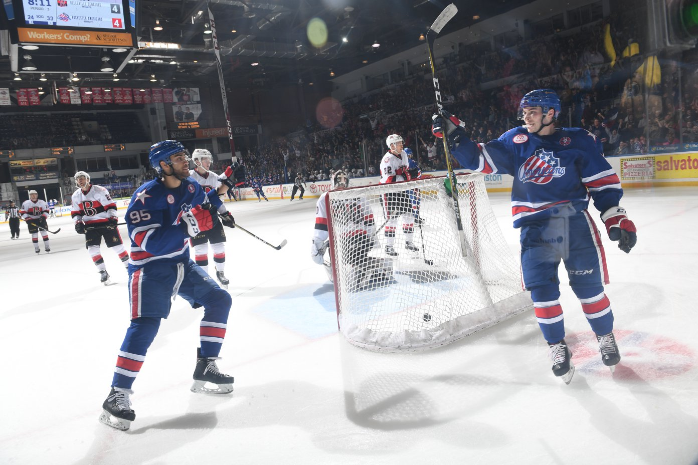 A Big Crowd Fueled Justin Bailey and the Amerks Comeback