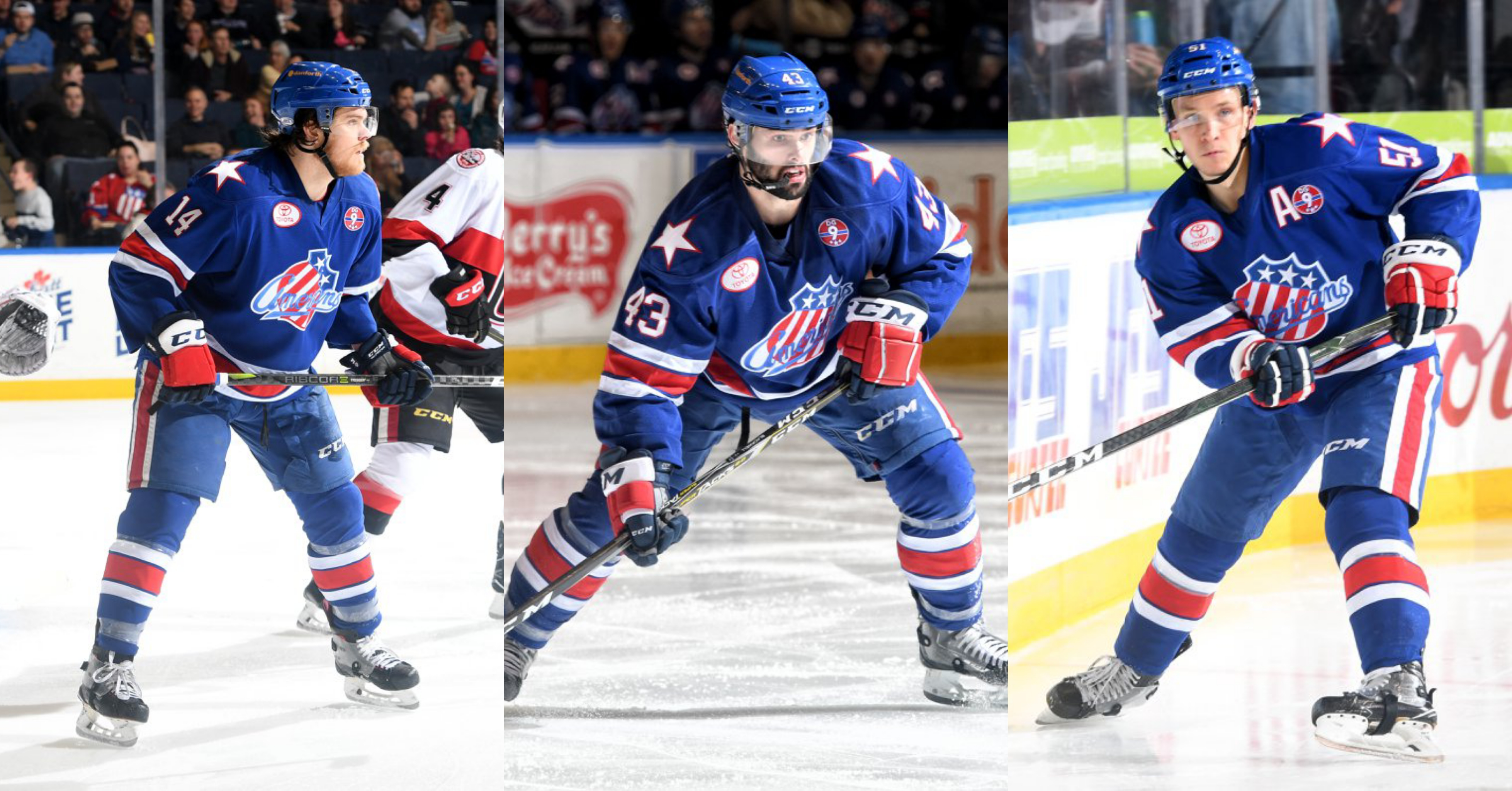 Three Harvard Friends are Leading the Amerks at Center