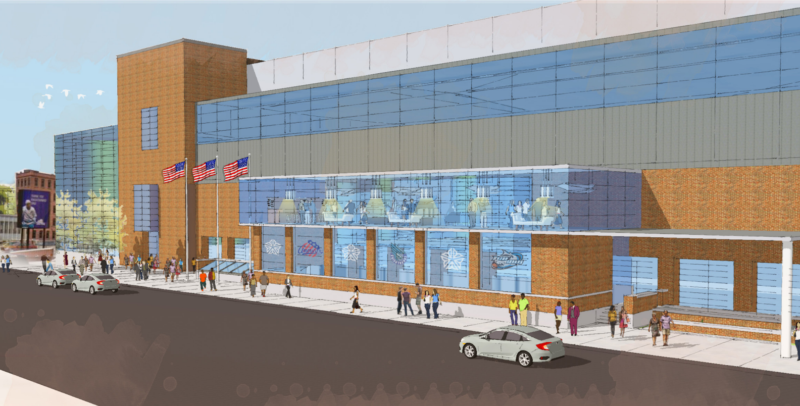 Blue Cross Arena Exchange St Expansion