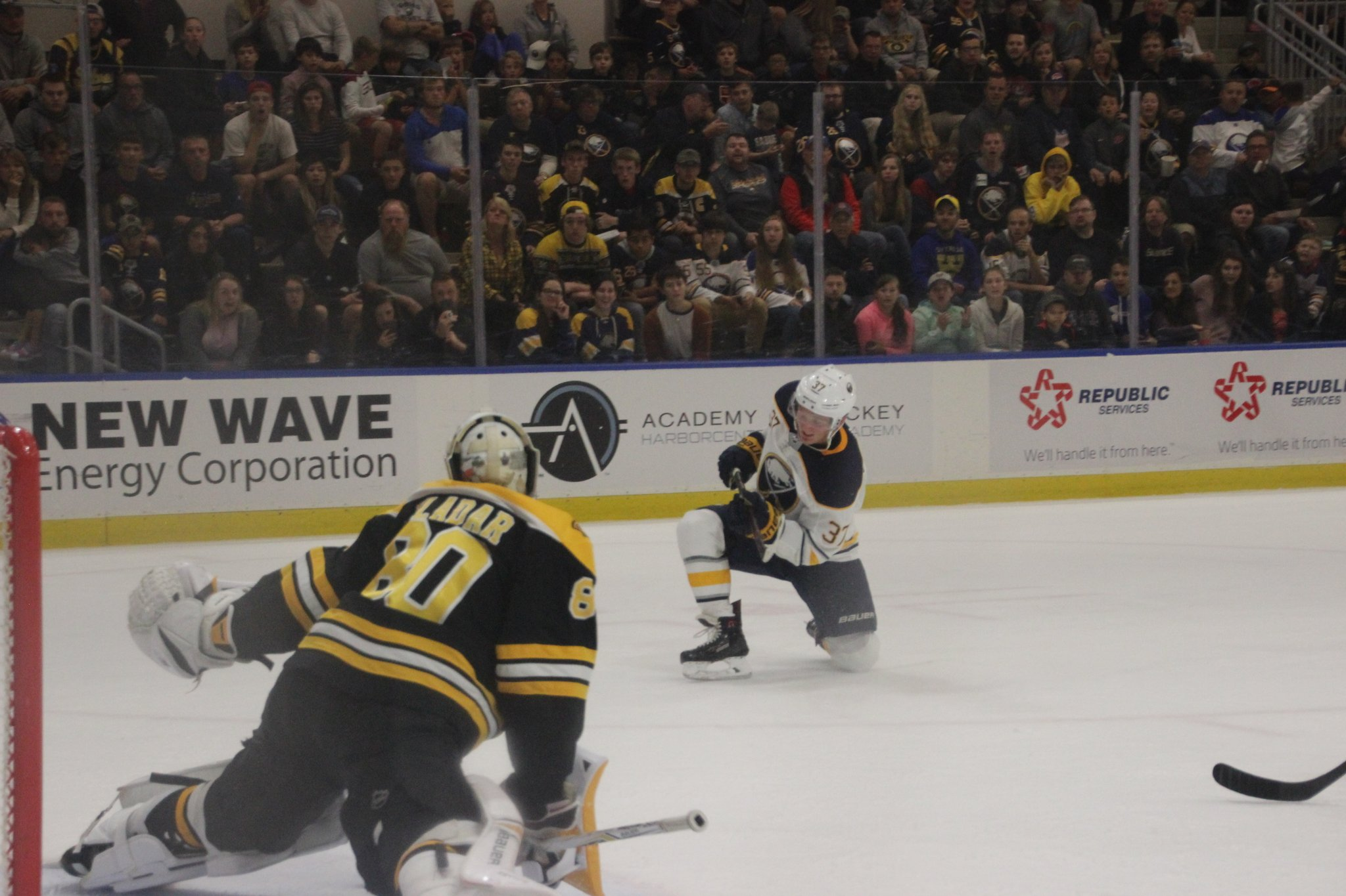 Prospects Had a Challenge in Game vs Bruins