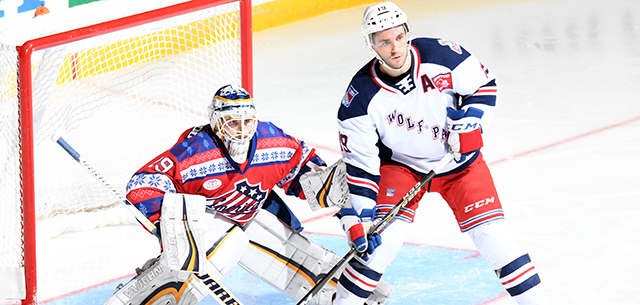 Amerks Tripped Up by Wolf Pack