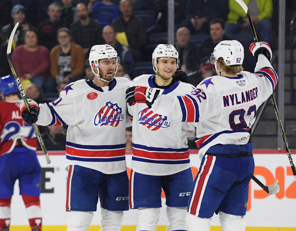 Alex Nylander Leads Amerks to a Shootout Win