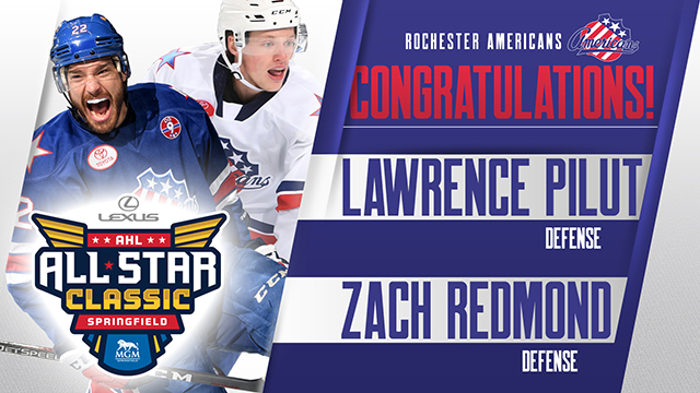 Redmond and Pilut Named to 2019 AHL All-Star Roster