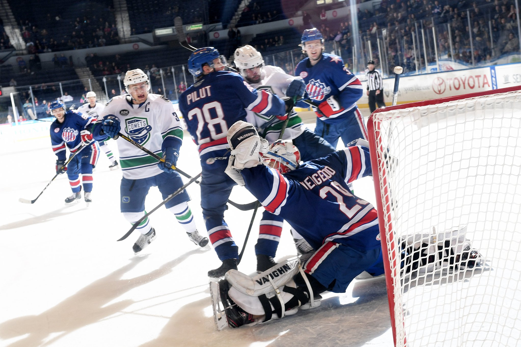Amerks Score Three in the Third, Wedgewood Earns Fifth Shutout