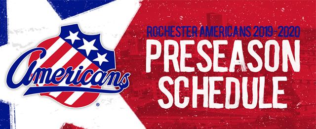 Amerks Announce 2019 Preseason Schedule