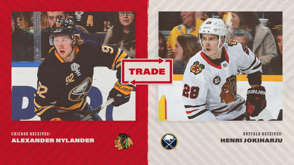 Alex Nylander Traded to Chicago for Henri Jokiharju