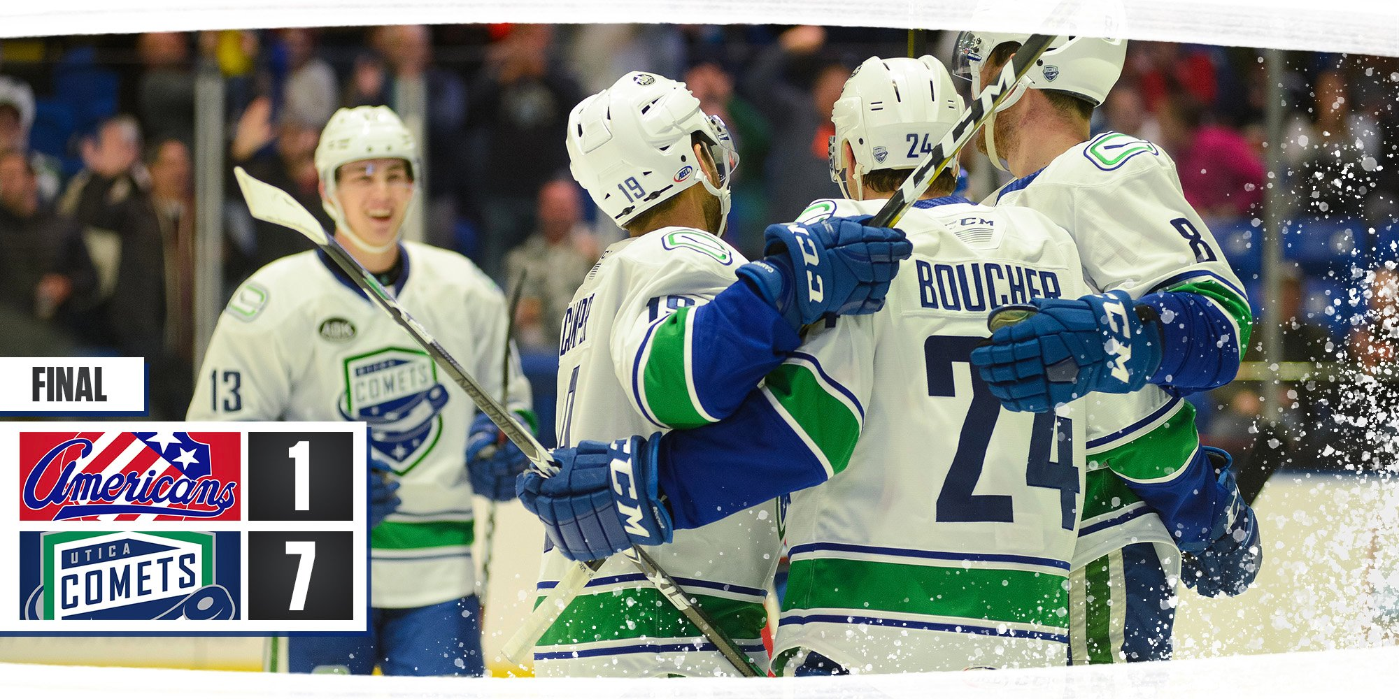 Recap: Comets Scored Seven and Rocked the Amerks
