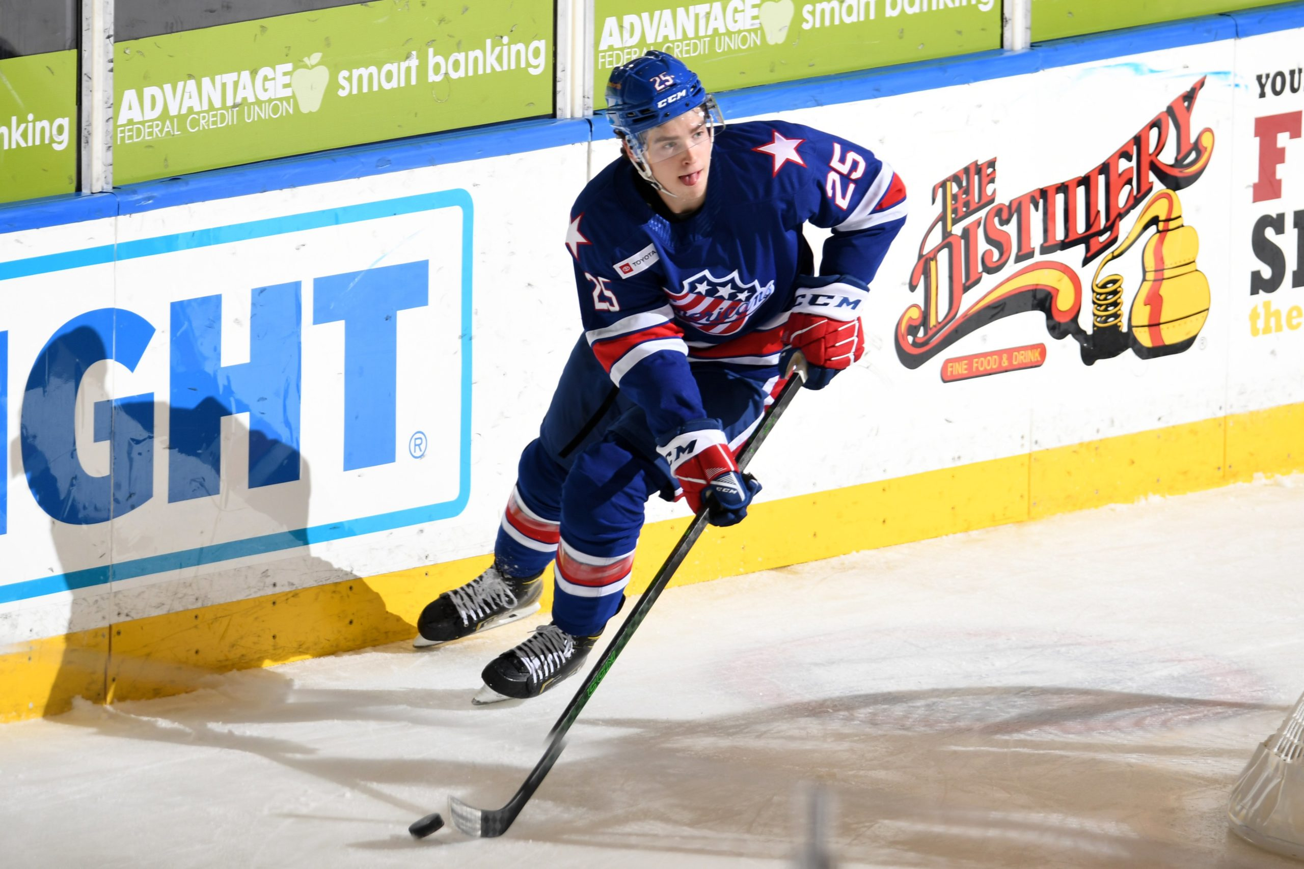 Jack Quinn stands out in debut in Amerks shootout win